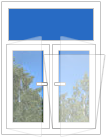 окно с фрамугой
