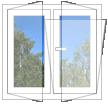 Окно металлопластиковое  REHAU