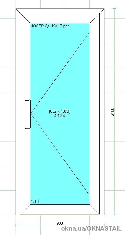 Двери из алюминиевого профиля Framex ширина 900 мм. высота 2100 мм.