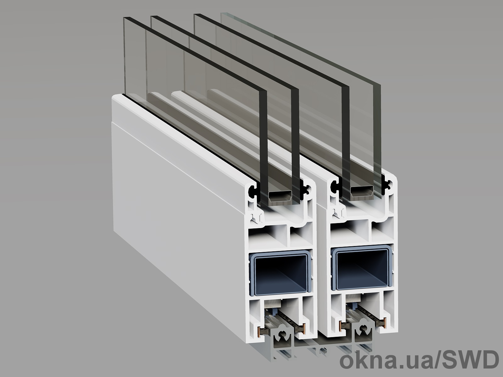 Раздвижная м/п система для остекления балконов и лоджий