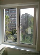Окно металлопластиковое с поворотно-откидной створкой. — АліС-центр