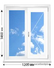 Купить окно VEKA SOFTLINE AD 70 mm 1205х1460