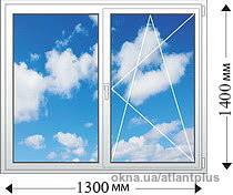 Окно на кухню. Профиль VEKA SOFTLINE 70mm 1300*1400