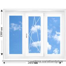 Трехстворчастое окно с одним открываниемVEKA EUROLINE AD58