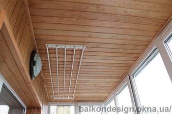 Обшивка балкона деревянной вагонкой ольха — Балкон - Дизайн