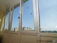 Французское остекление балкона 3000*2500*1000 мм