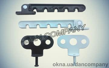 Ограничитель открывания окна гребенка алюминиевая — DAN Company
