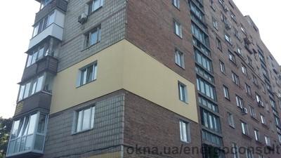 Замена окон на энергосберегающие с утеплением фасада в многоквартирном доме в Киеве — Энерго Инжиниринг