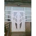 Двері  вхідні металопластикові білі REHAU