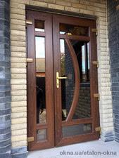 Двери входные ламинированные в коттедже, г. Ахтырка, Сумская обл. — Новая Эра XXI