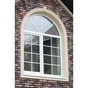 Окна арочные с декоративными шпросами
