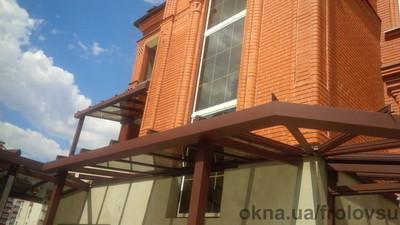 Авто навес  г.Сумы крыша стекло тонированное в массе StopSol — Фролов
