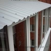 крыши на балконы лодии