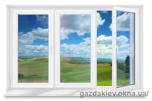 Окно трехстворчатое для квартиры с энергосберегающим стеклопакетом