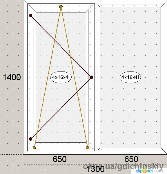 S 300 1300ммх1400мм Экономное предложение, однокамерный стеклопакет с энергосбережением + подоконник + отлив