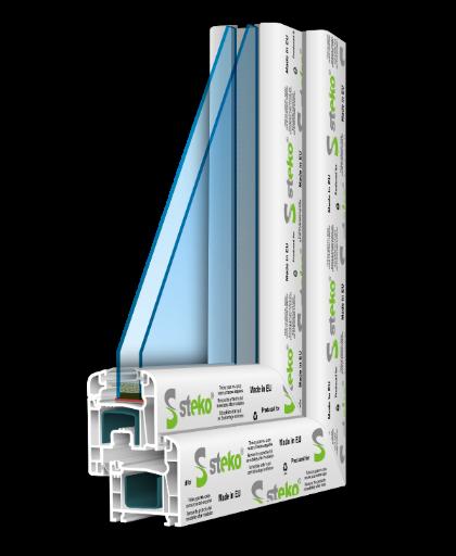 R 400 1300ммх1400мм Разумное предложение цена-качество, однокамерный стеклопакет с энергосбережением, 4-камерный профиль.