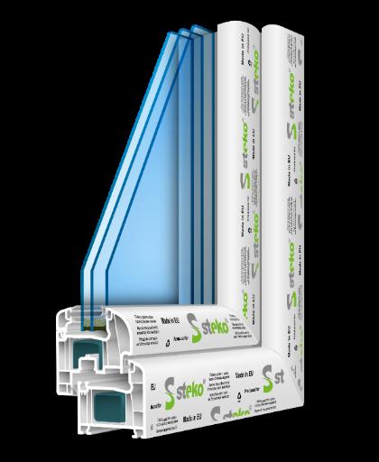 R 600 1300ммх1400мм Теплое окошко за разумные деньги, двухкамерный стеклопакет с двойным энергосбережением и аргоном, 5-камерный профиль (6-камерная створка), немецкая фурнтура.