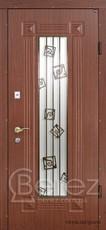Двери Berez уличные со стеклопакетом и ковкой со склада в Луганске.