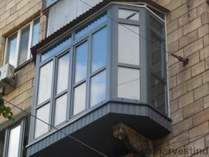 Остекление эркерного балкона — Свитеп-Запорожье