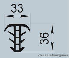 Уплотнители для алюминиевых конструкций И.2169