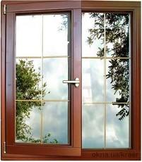 Окно из евробруса Wood Line 78mm