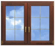 Окно из евробруса Forest Line 78mm
