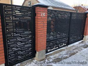Ворота распашные I Modern-стиль для дизайна Вашего дома — НАША ХАТА