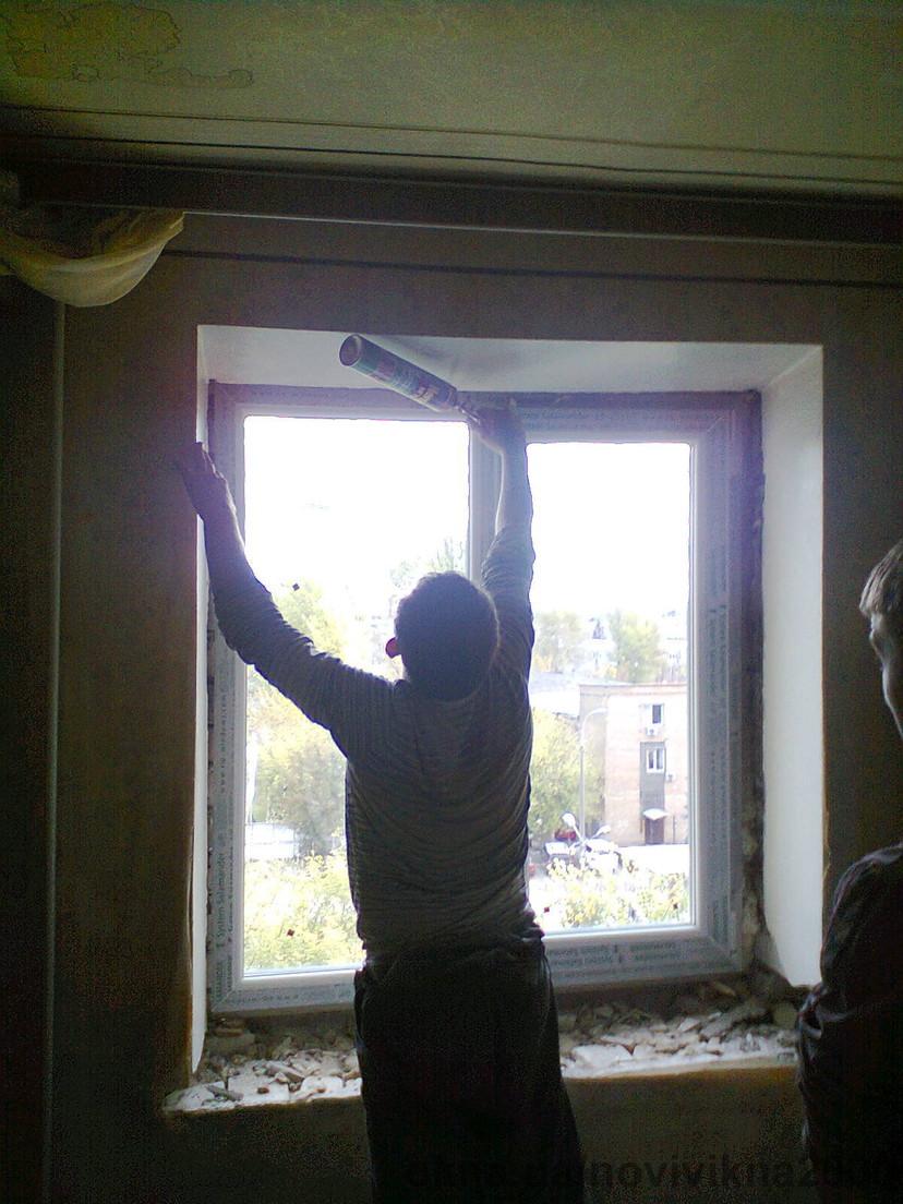 установка окна в Киеве