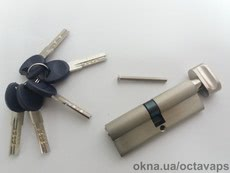 Серцевина замка ОСТО PROFI SN 45/45 Ni (никель) ключ-барашка