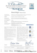 Сертификат соответствия, фурнитура Siegenia — Epsilon ТМ