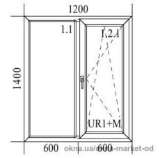 Пластиковое окно Trocal 1200x1400