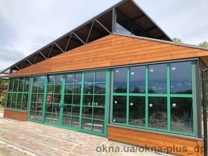 Остекление летнего ресторана для эко-лагеря Berry Land (Ягідна Країна) в с. Евецко-Николаевка — ОКНА+