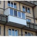 Балкон с крышей и выносом по полу