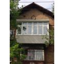 Балкон с крышей, выносом по полу и обшивкой