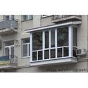 Французский балкон с крышей и затемнённым стеклопакетом