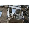 Алюминиевый французский балкон