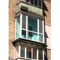 Французский балкон с тонированым стеклопакетом