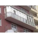 Большой закруглённый французский балкон