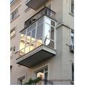 Французский балкон с зеркальной тонировкой