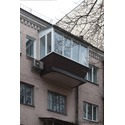 Балкон с крышей в сталинке