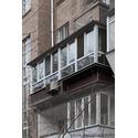 Балкон с крышей, выносом по полу м подоконнику