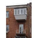 Балкон с выносом по подоконнику и крышей
