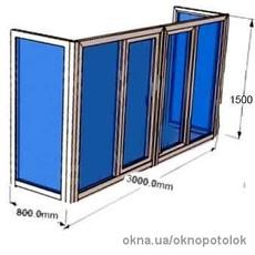 Металлопластиковый балкон