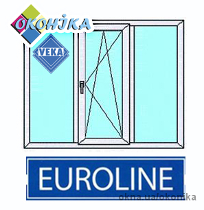 Стандартное окно из профиля VEKA Euroline. Размер 2100х1400мм