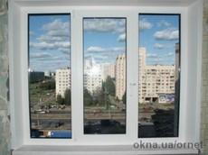 Окно в комнату Salamander 2D 1,8м*1,45м двухкамерное с монтажом, подоконником и отливом