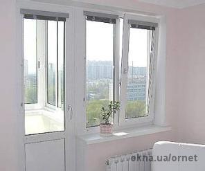Балконный блок Salamander 2D 2100х2100 с монтажом, двухкамерный стеклопакет, окно с открыванием, фурнитура Масо