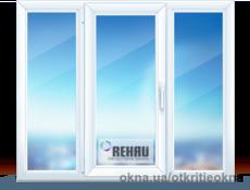 Стандартное окно в зал 2000х1400. Rehau Euro 60 с однокамерным стеклопаткетом с энегросберегающим покрытием