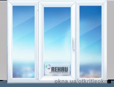 Металопластиковое окно в зал с оригинальным дизайном 2000х1400. Rehau Brillant с расширенным двухкамерным спеклопакетом