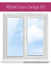 Металлопластиковое окно Rehau (1400х1320 мм) в спальню от производителя. Rehau Euro 60