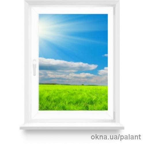 Металлопластикове окно 850*1400 однокамерное энергосберегающее